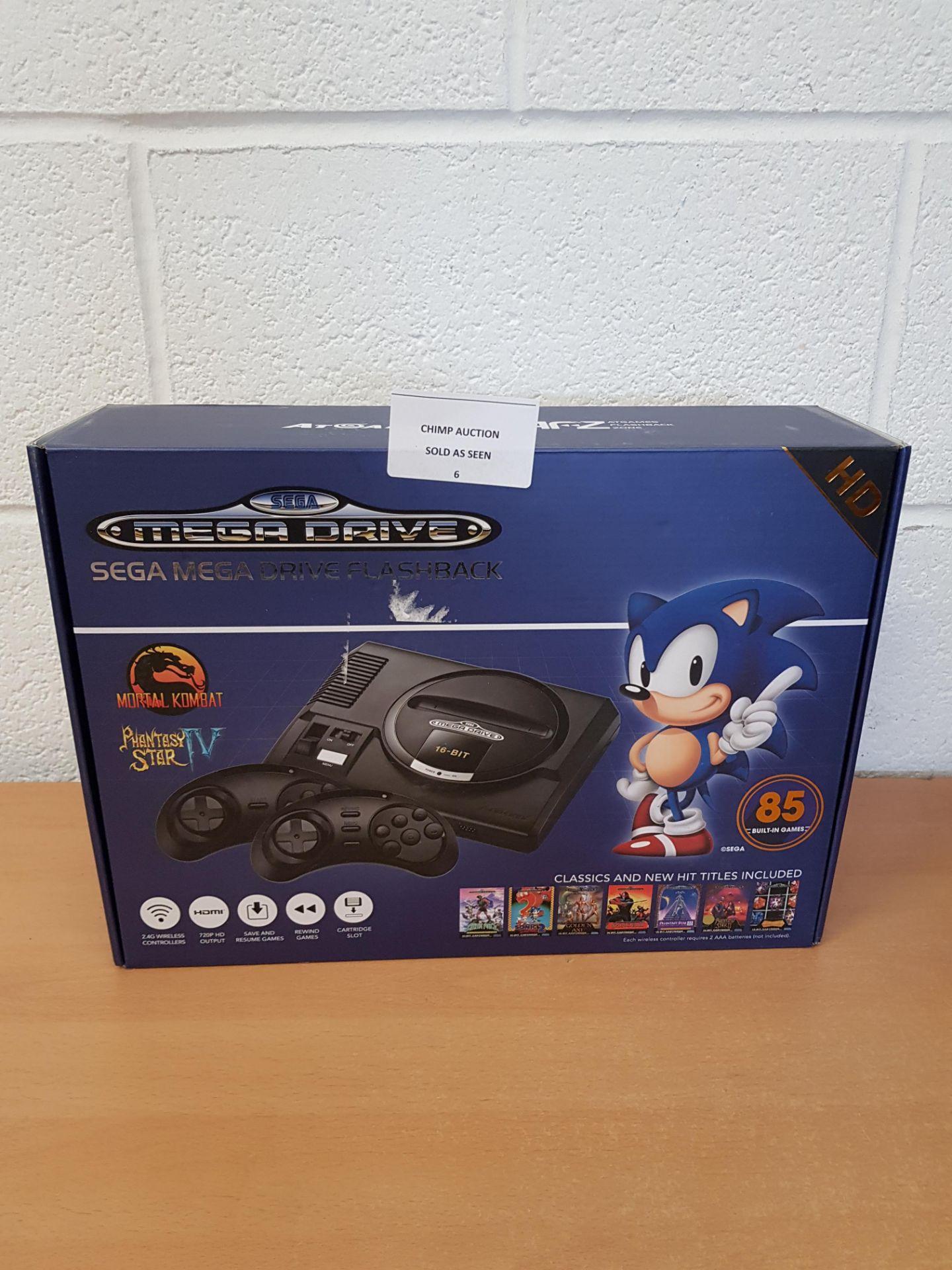 Lot 6 - Sega Mega Drive HD Flashback + 85 games retro Console RRP £79.99.