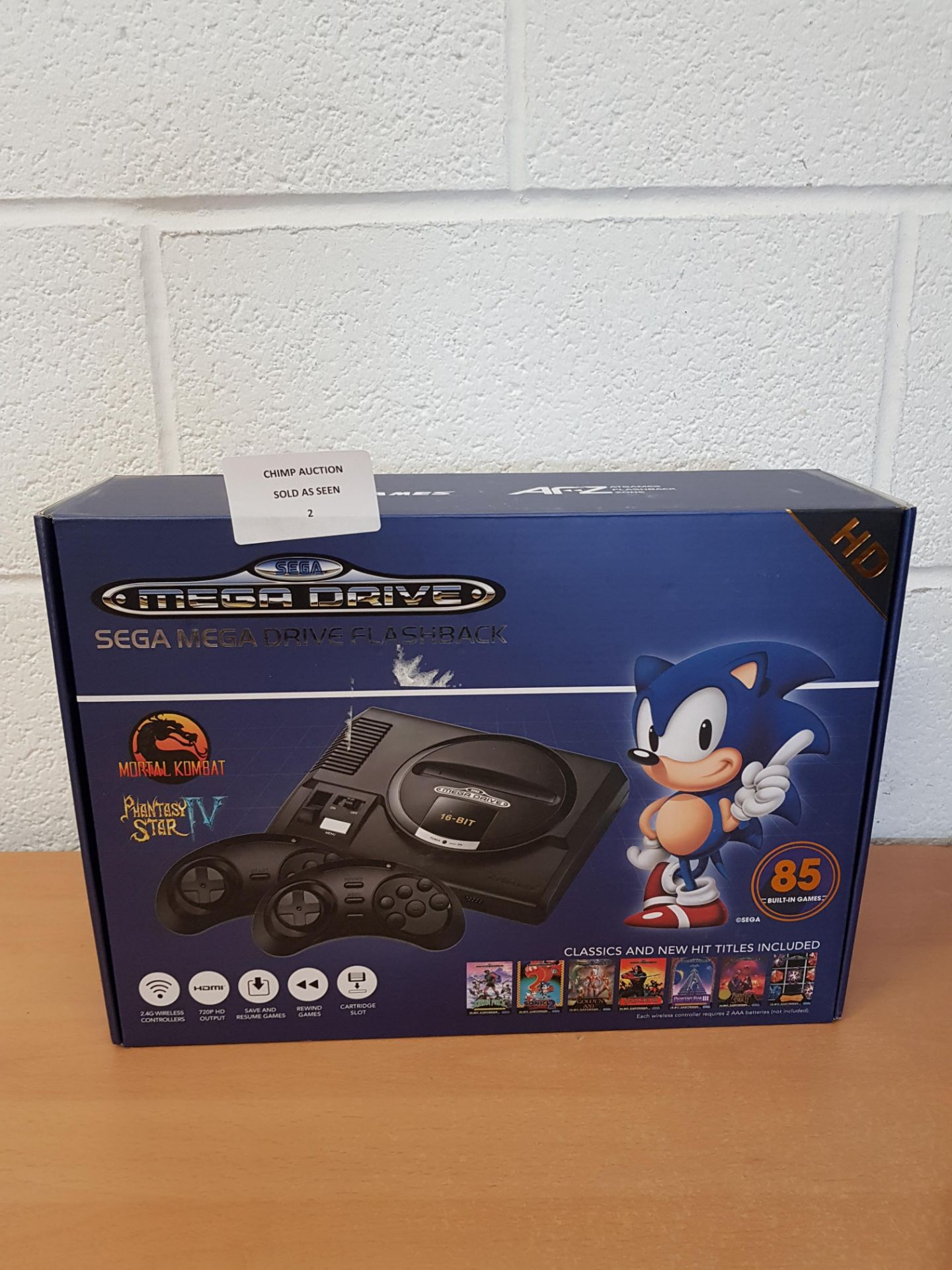Lot 2 - Sega Mega Drive HD Flashback + 85 games retro Console RRP £79.99.
