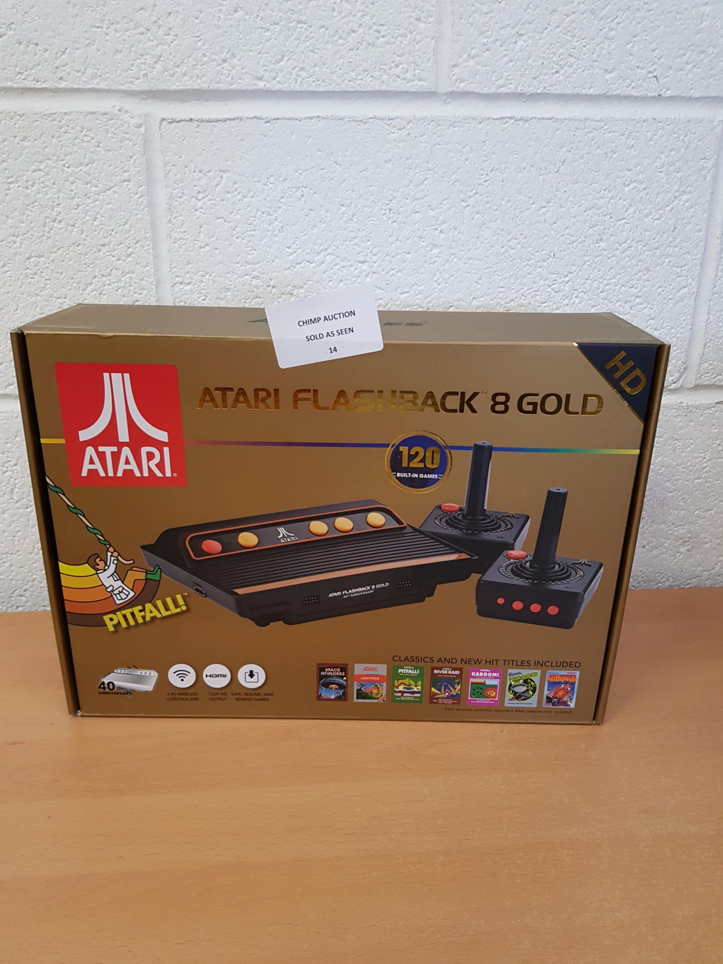 Atari Flashback 8 Gold HD retro Console + 120 Games RRP £79.99.