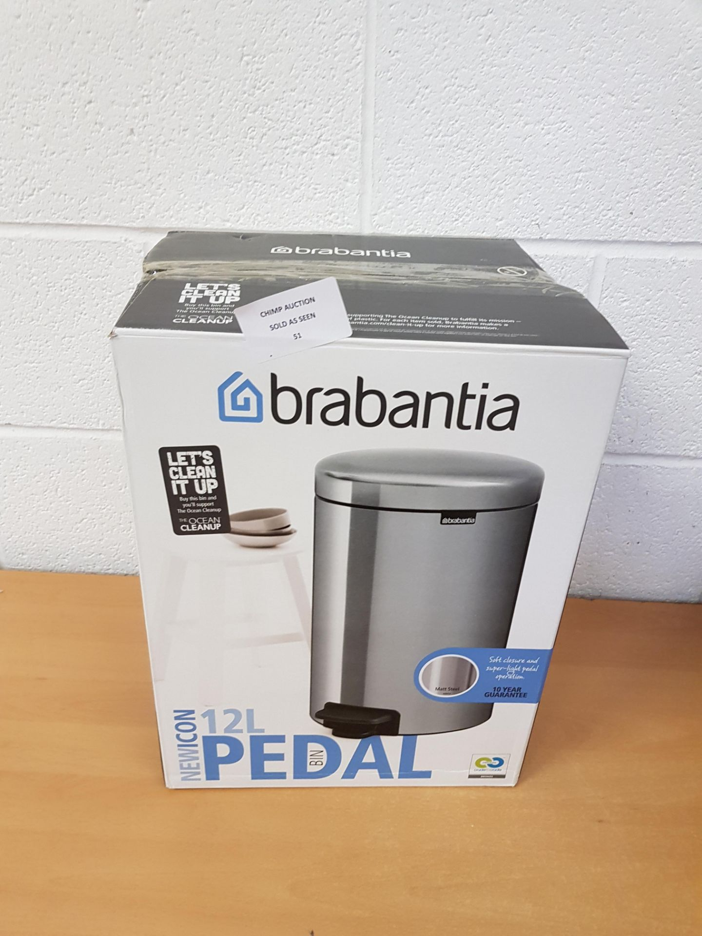 Lot 51 - Brabantia 12L Pedal Bin