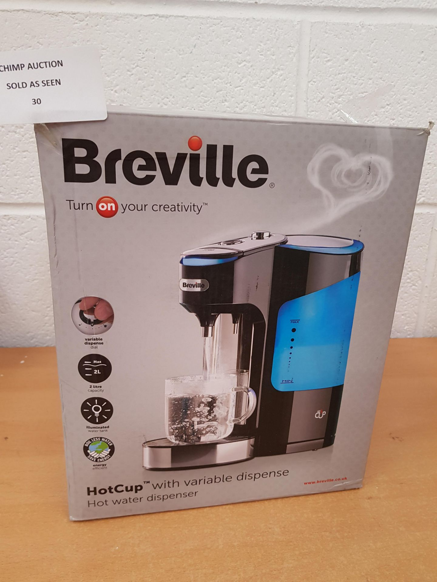 Lot 30 - Breville HotCup with Variable Dispense hot water Dispenser