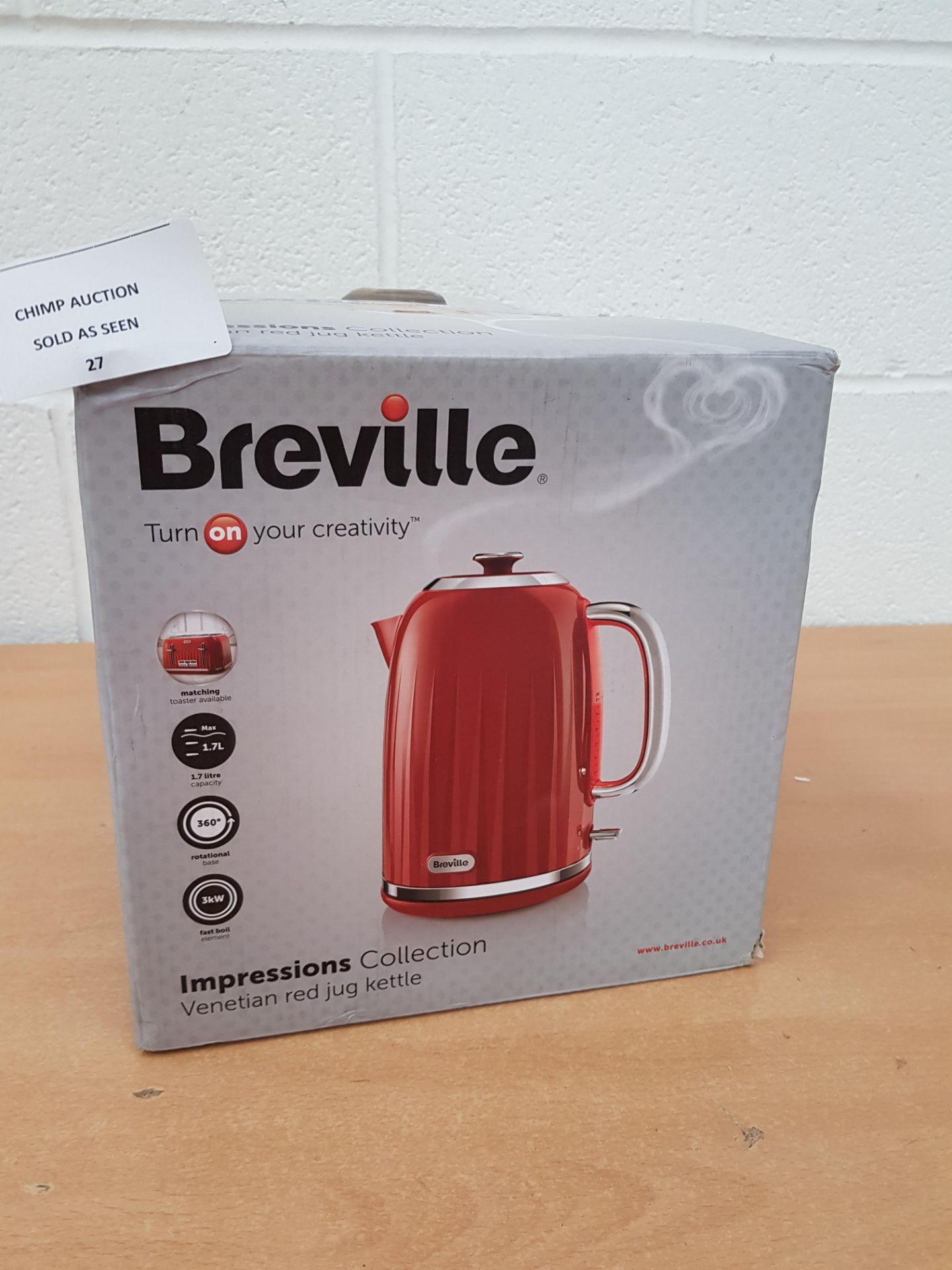 Lot 27 - Breville Impressions Collection Jug Kettle