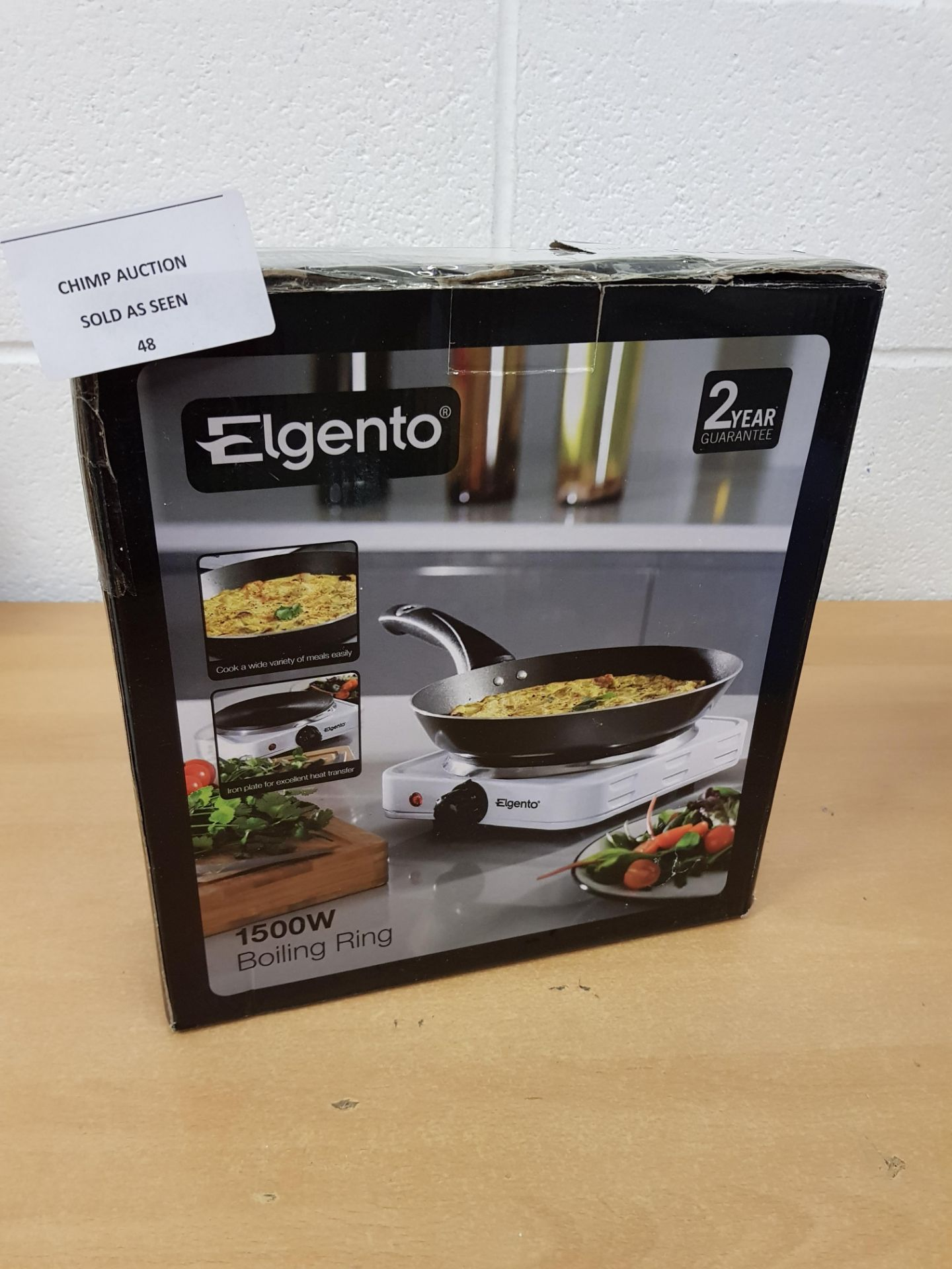 Lot 48 - Elgento 1500W Boiling Ring