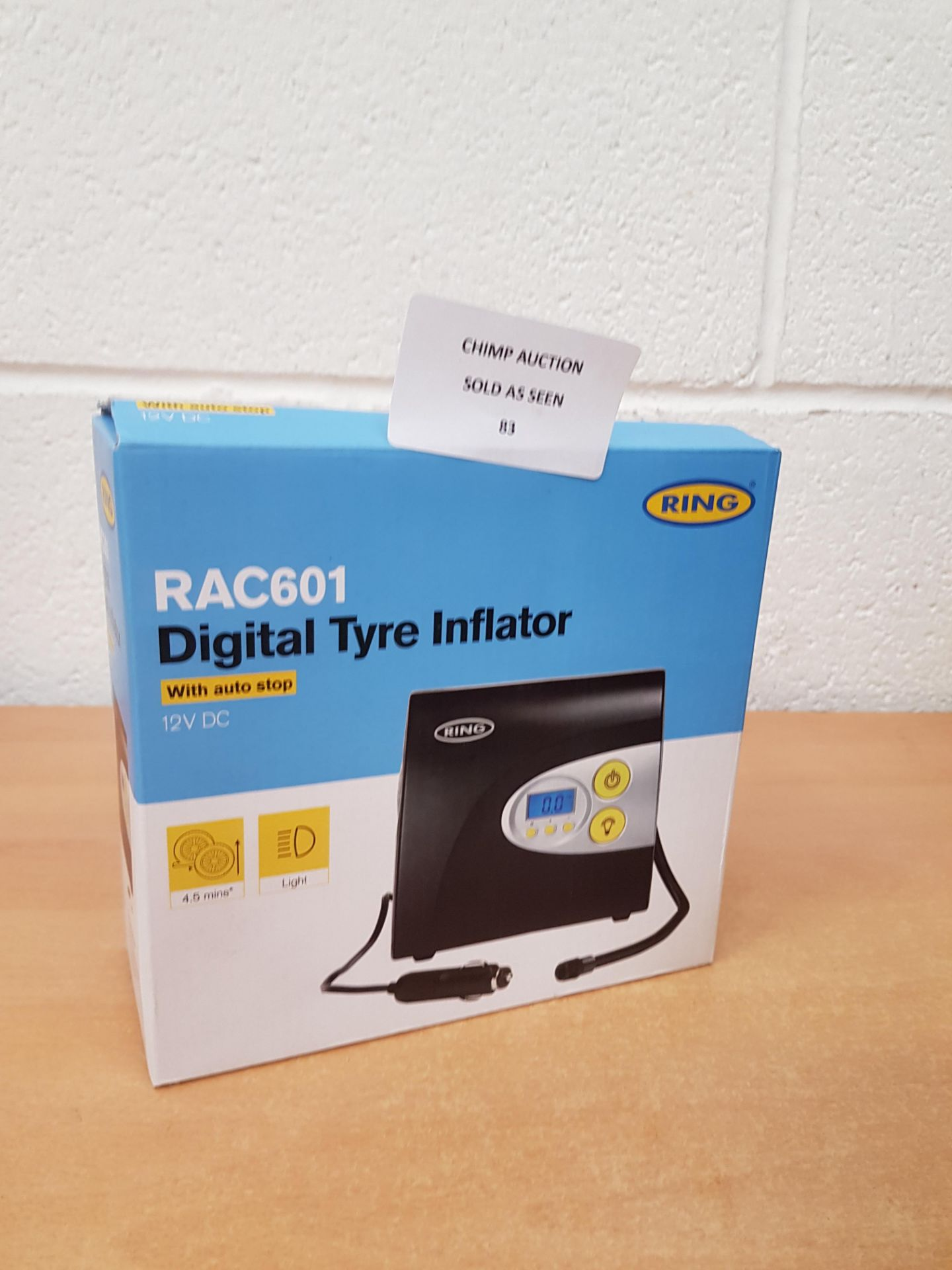 Lotto 83 - Ring RAC601 Digital Tyre Inflator