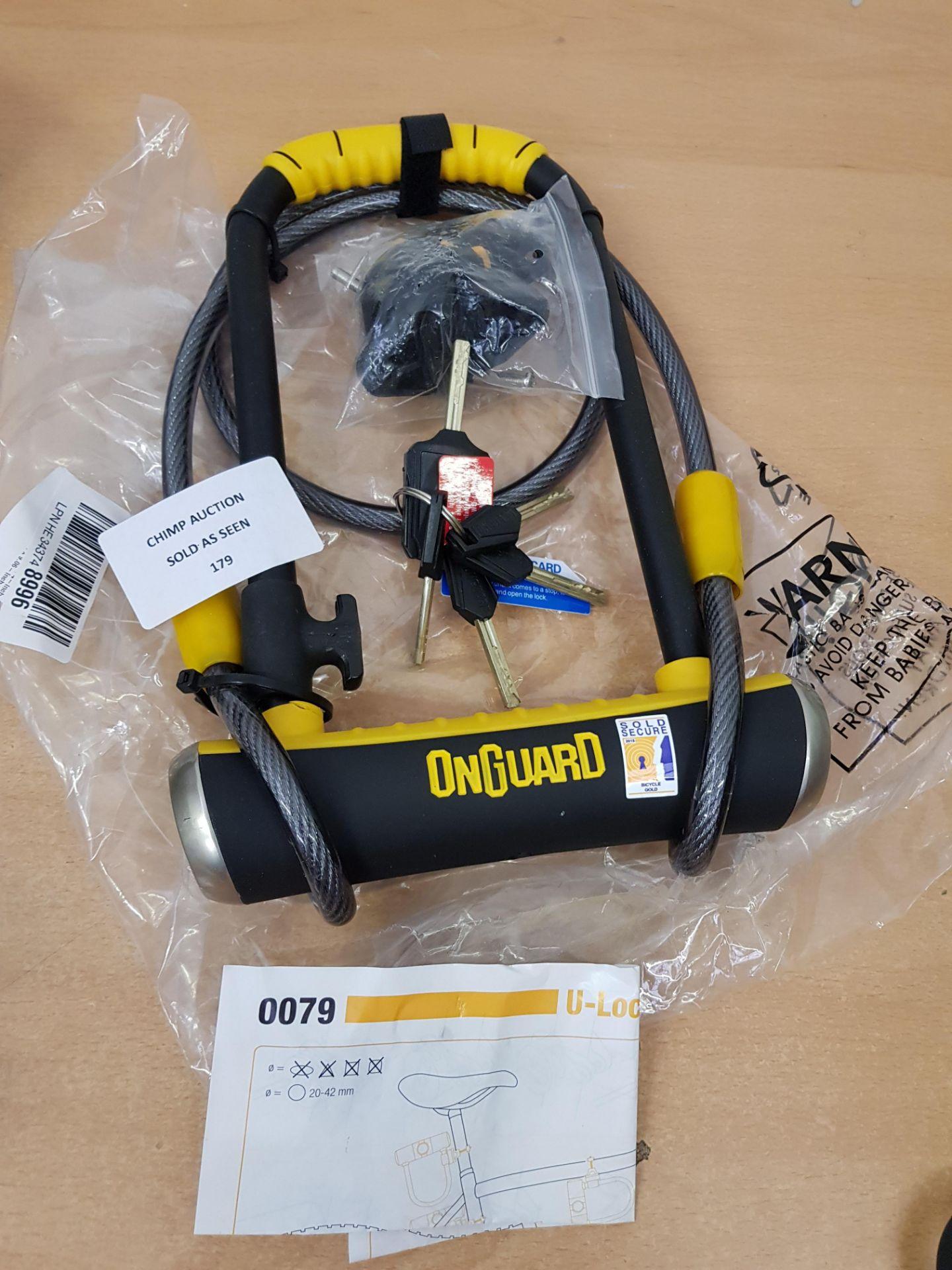 Lot 179 - OnGuard Pitbull DT 0079 Bike Lock & Cable