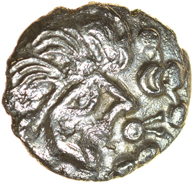 Lot 22 - Thatcher's Sister. c.55-45 BC. Celtic silver unit. 13mm. 1.09g.