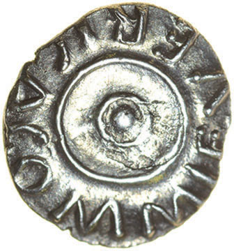 Lot 9 - Verica Circles. c.AD10-40. Celtic silver unit 12mm. 1.22g.