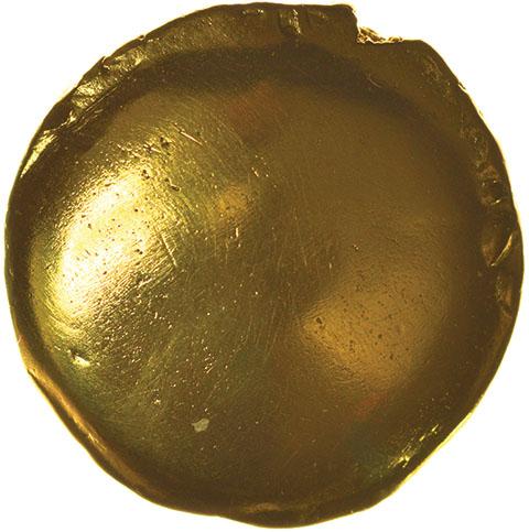 Lot 2 - Gallic War Uniface. Ambiani. Sills class 2. c.57 BC. Celtic gold stater. 16mm. 6.22g.