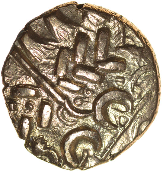 Lot 15 - North East Coast. Propeller Type. Sills Mint A.c.60-50 BC. Celtic gold stater. 18mm. 5.54g.