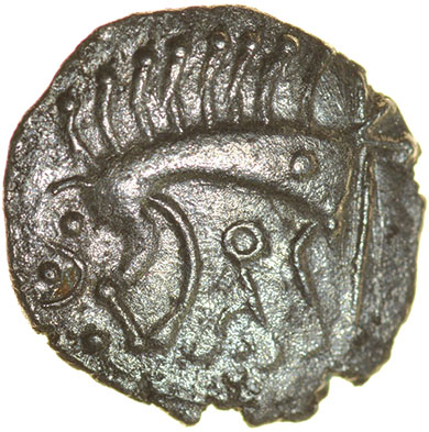 Lot 13 - Cani Duro. Talbot dies A/1. c.AD 25-43. Celtic silver unit. 13mm. 0.92g.