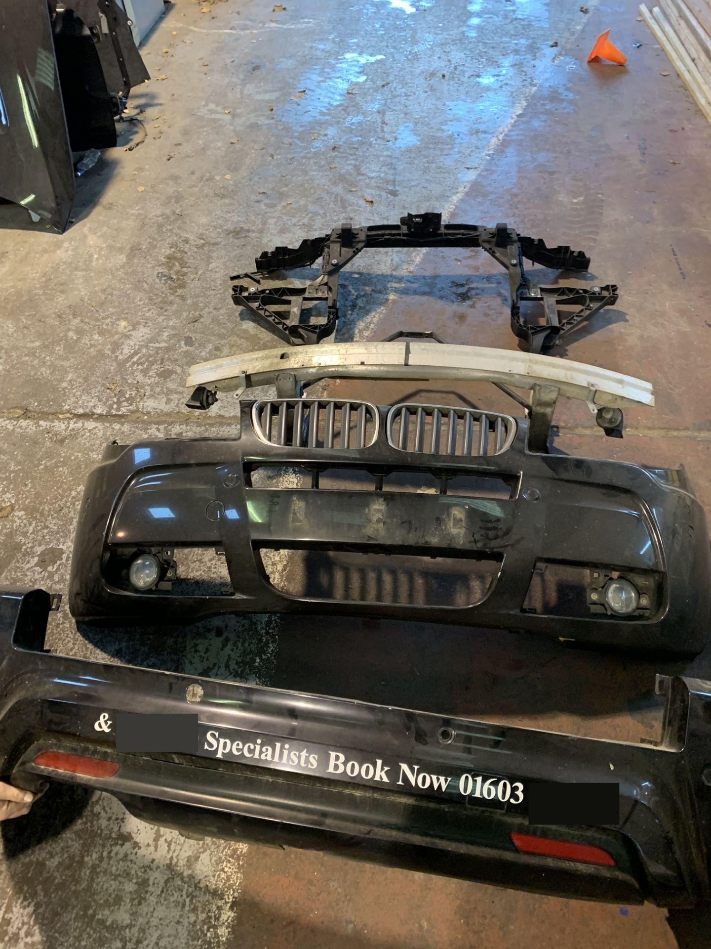 Lot 64 - BMW X3 M SPORT FRONT & REAR BUMPER SET INC FOG LIGHTS & SENSORS