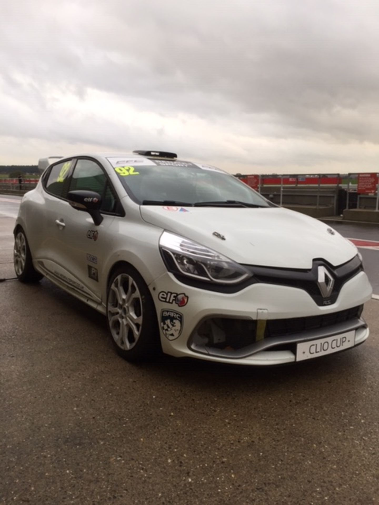 Lot 25 - CLIO CUP 2016 RACE CAR OR TRACK CAR