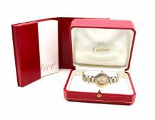 Cartier Damenarmbanduhr Stahl Gold Must de Cartier 21 mit Box