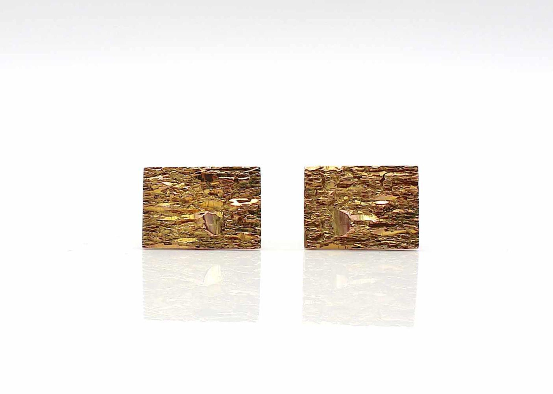 Los 58 - Manschettenknöpfe 585er Gold, 11,2 g