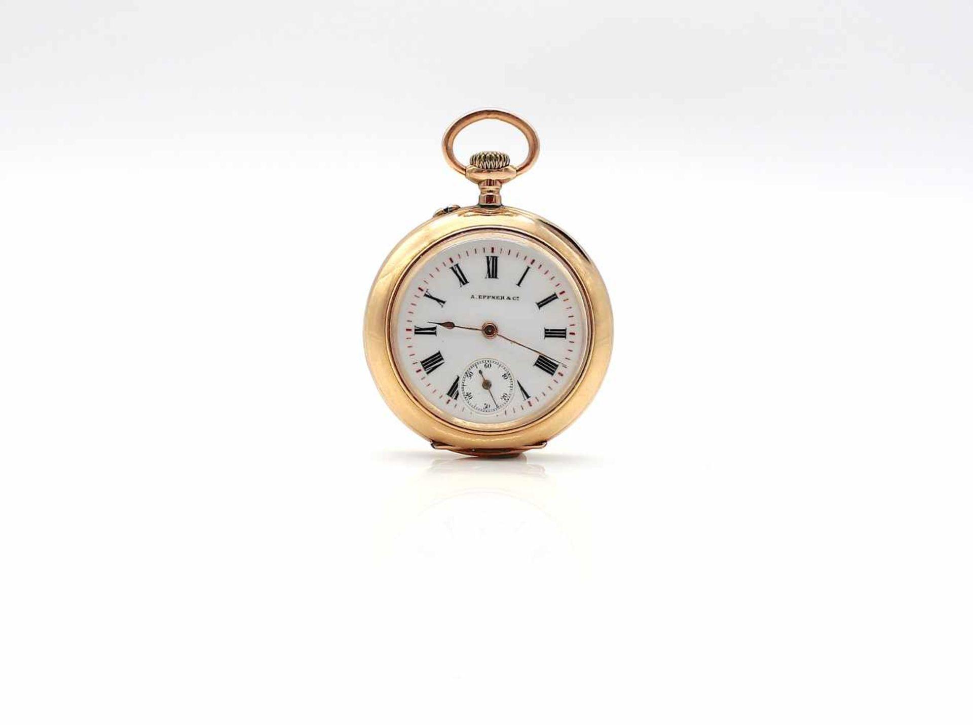 Los 29 - Taschenuhr A. Espner & Co. 585 Gold