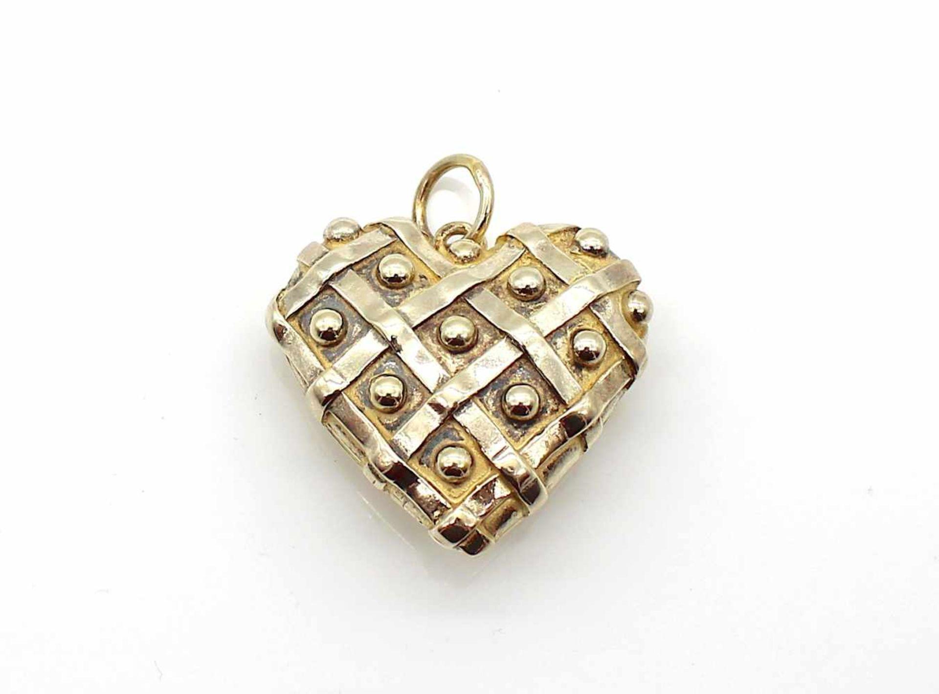 Los 55 - Herz 925er Silber vergoldet, 34,3 g