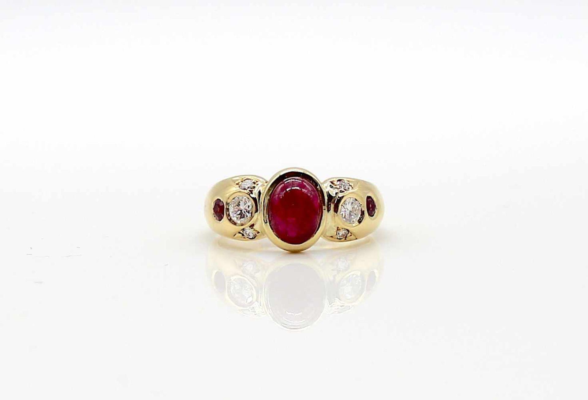 Los 50 - Ring 750 Gold mit Brillanten gesamt ca. 0,40 ct, hoher Reinheits- u. mittlerer Farbgrad und einem