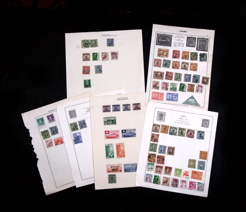 Lot 112 - A small group of Chinese stamps.