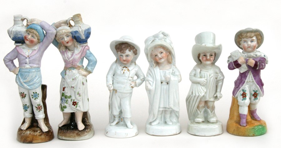 Lot 77 - A group of 19th century fairings to include vases and candlesticks, the largest 18cms (7ins) high (