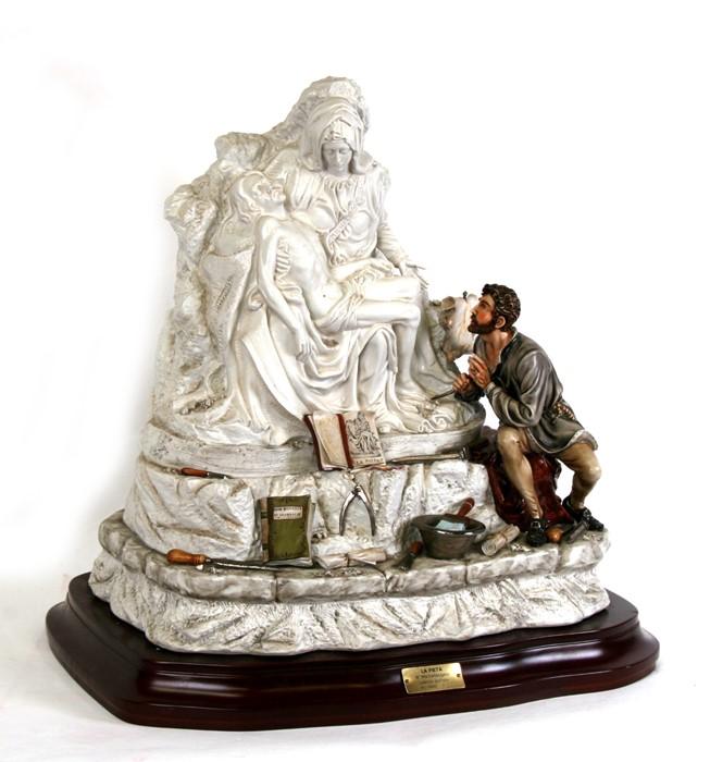 Lot 92 - A large Capodimonte porcelain figural group - The La Pieta di Michael Angelo - limited edition 72/