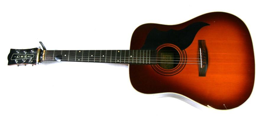 Lot 114 - An Eko acoustic guitar, numbered '199382'.