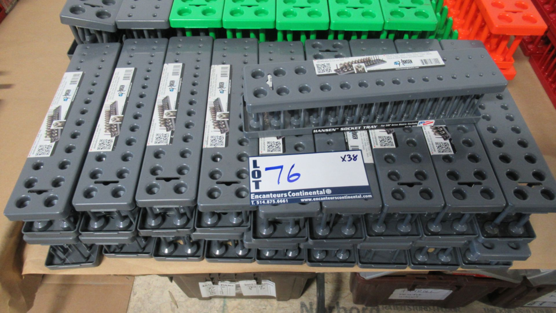 "Lot 76 - SOCKET TRAYS HANSEN 3/8""DR. METRIC 6-20mm"