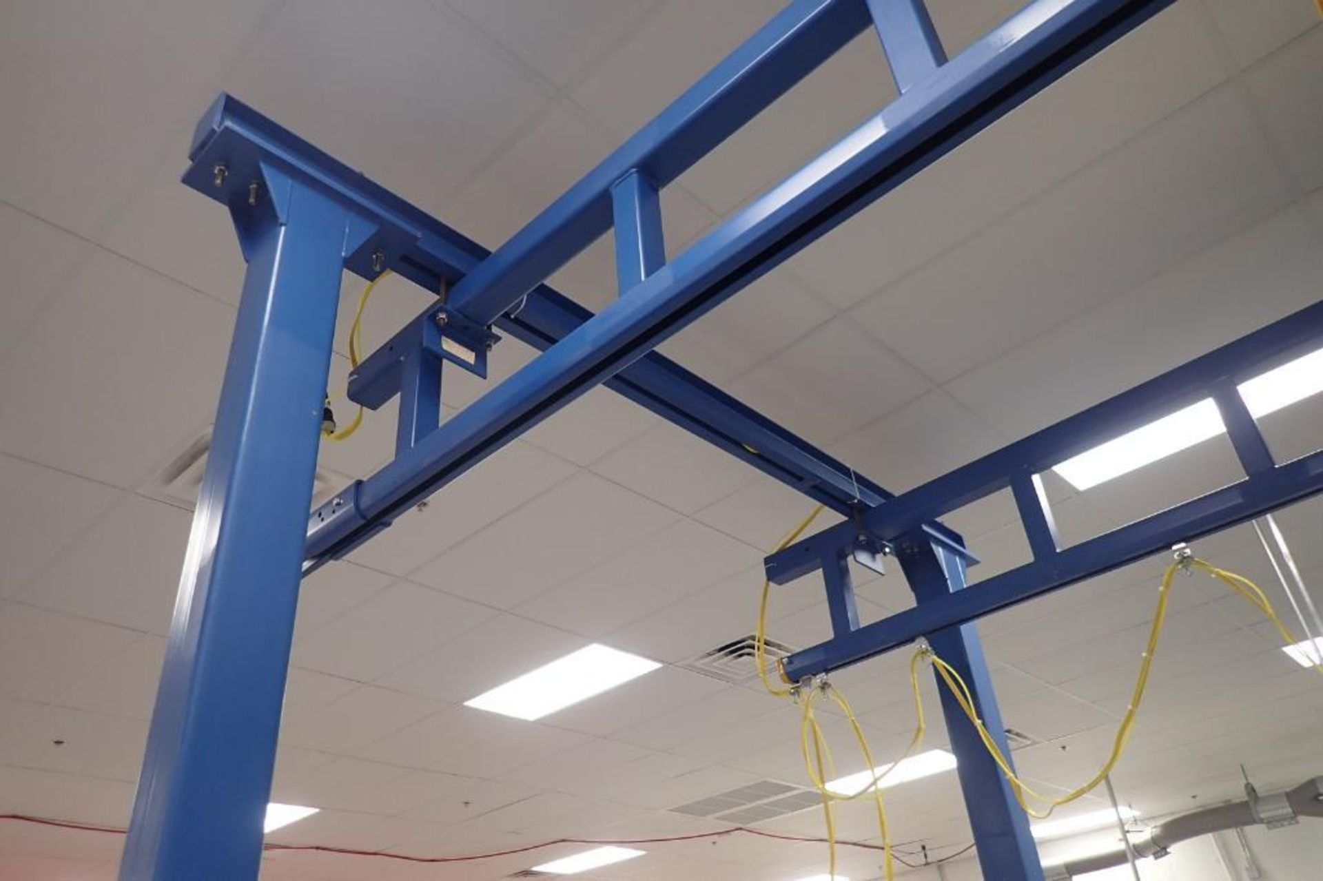 Lot 9 - FHS overhead crane system, 30 ft. long x 152 in. tall x 126 in. wide, (2) manual slide 2000 lb