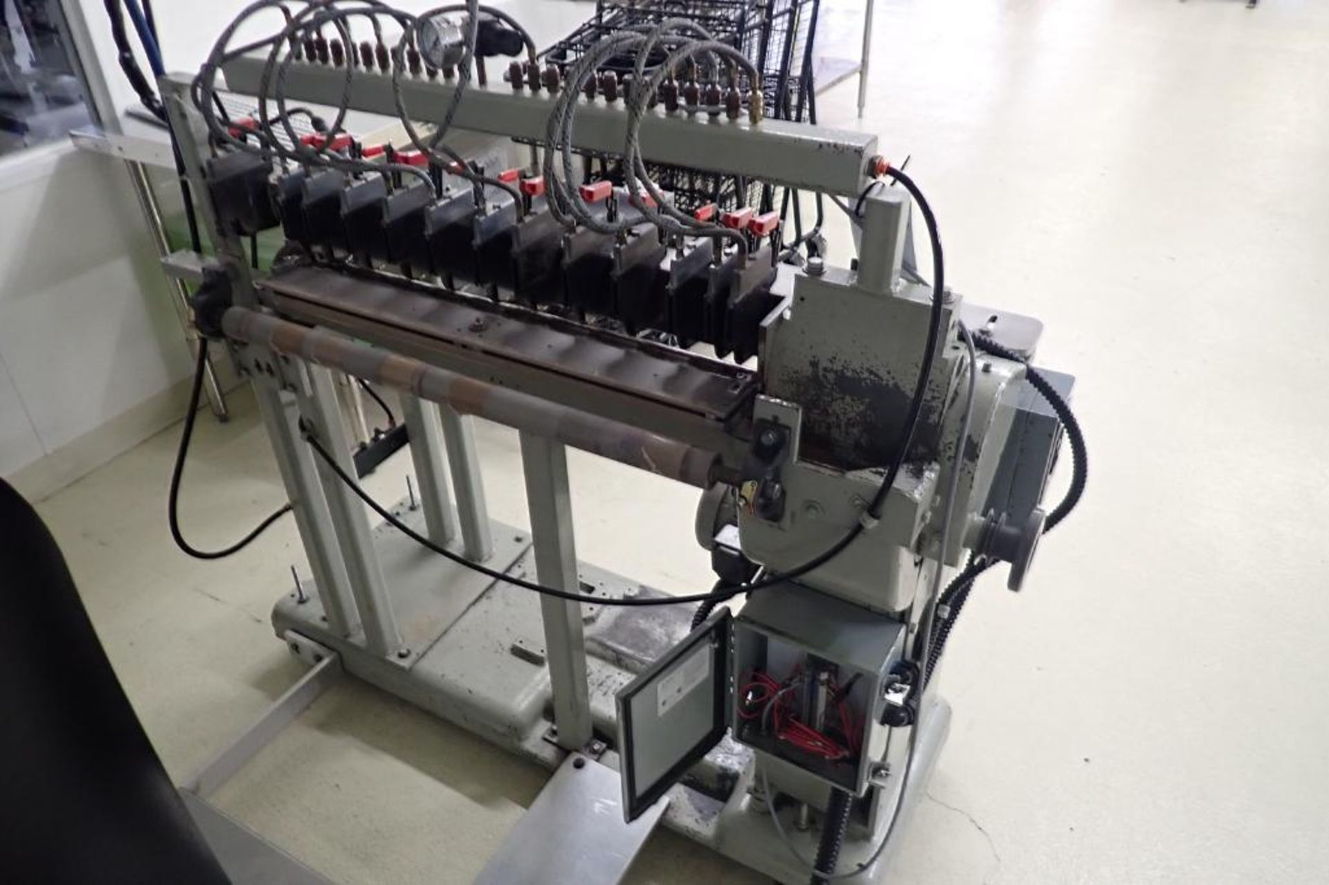 Lot 12 - Custom slitter, (2) 14 in. wide rolls, up to 14 slits, AC tech smart drive { Rigging Fee: $200}
