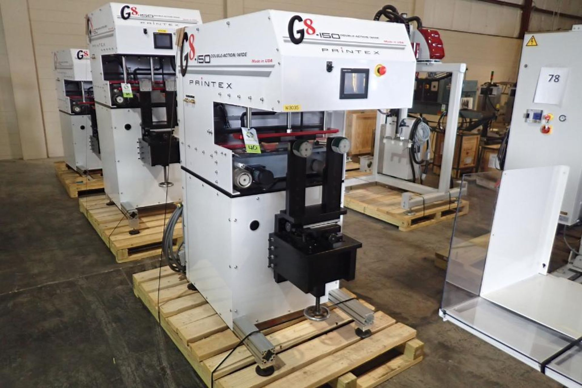 Lot 40 - 2015 Printex G8-150 double-action/wide pad printer, programmable controller and user-friendly