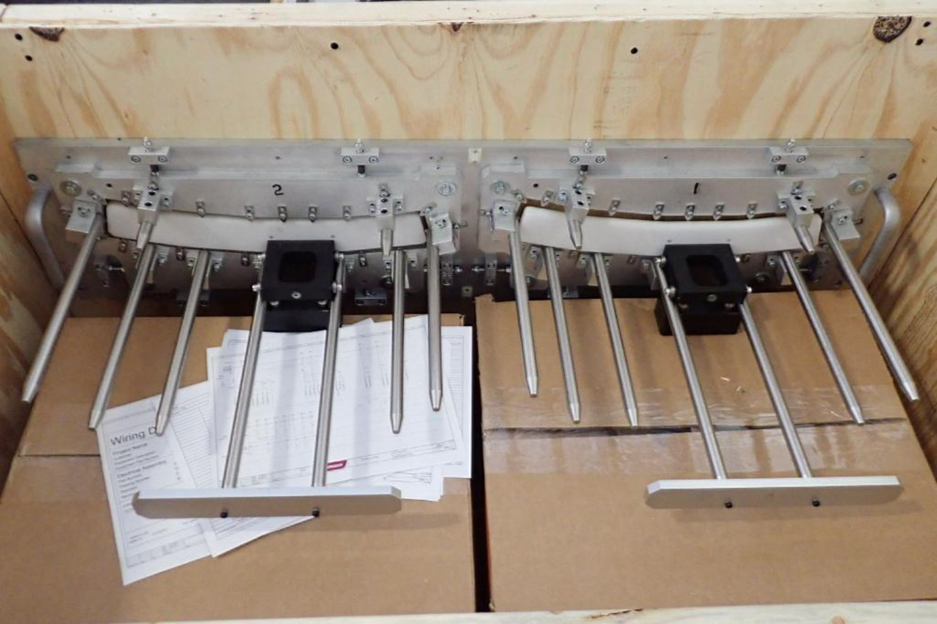 Lot 42A - 2015 Whittmann robotic inter molded label placing system change over parts { Rigging Fee: $50}