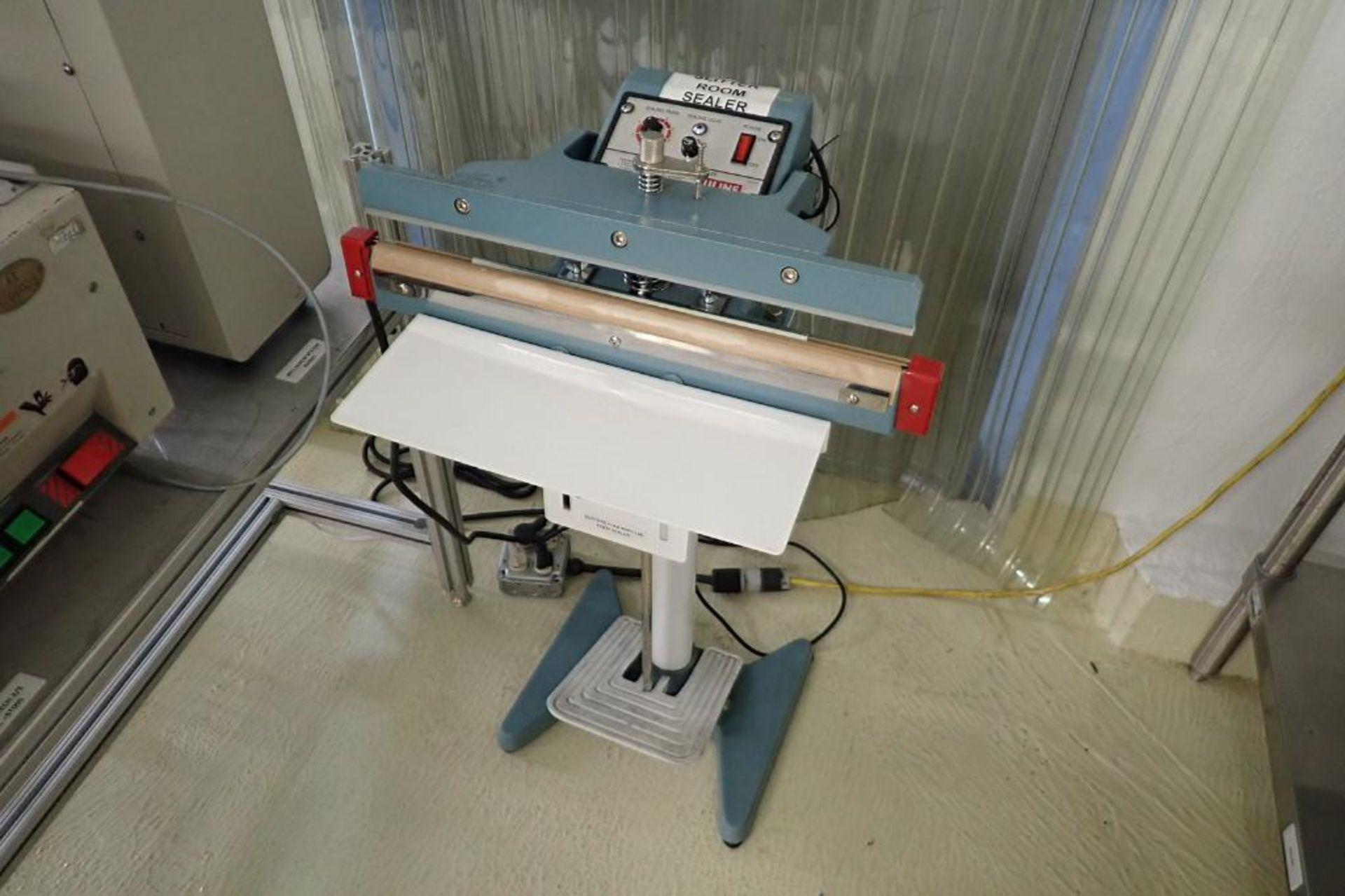 Lot 16 - Uline impulse foot sealer, Model H89, 18 in. seal bar, foot operated { Rigging Fee: $25}