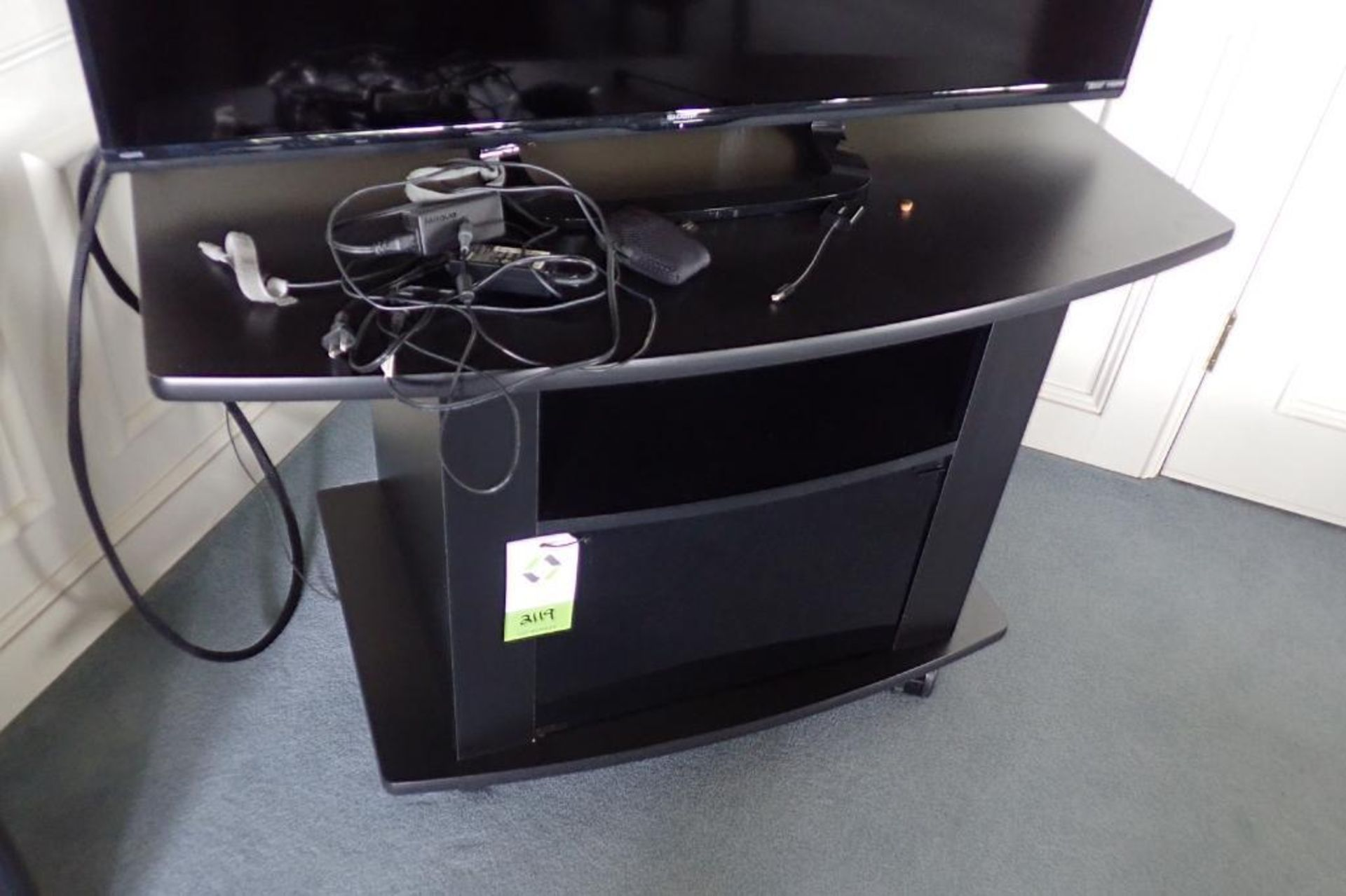 Lot 2119 - Black tv stand
