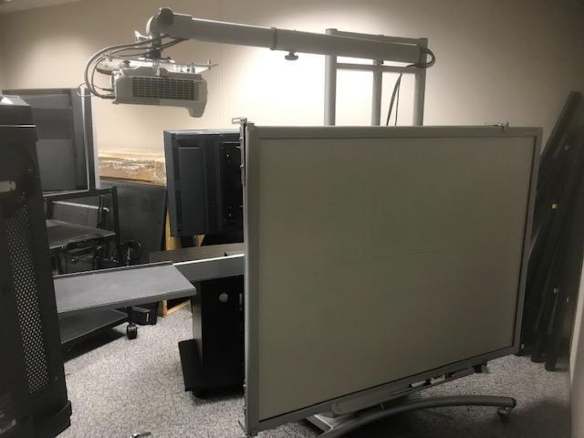 Lot 406 - Motorized White Board with projector