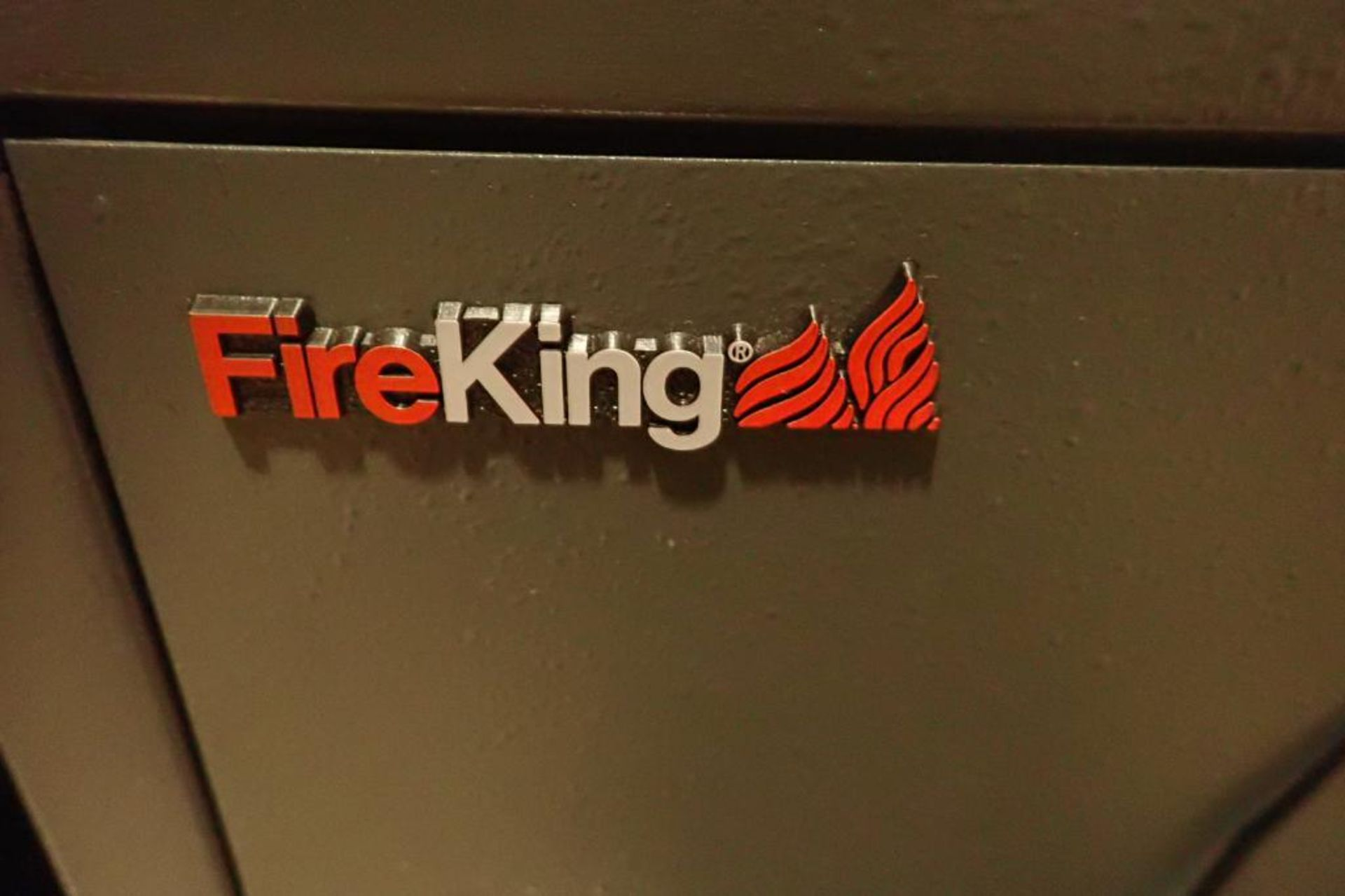 Lot 2140 - Fire king safe and mini fridge