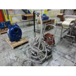 Sandpiper stainless 1 in x 1 in diaphragm pump, model HDF3DN7, ser. no 2177236, mounted on stainless