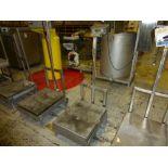 Mettler Stainless Digital Platform Scale, ser. no 10002122, 22 ft x 28 ft, 50 lb cap [1st Flr Main