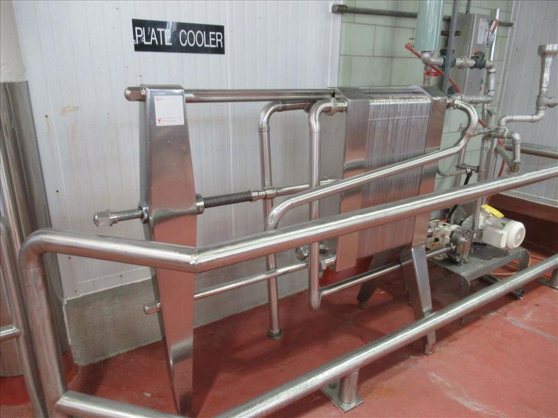 Lot 385 - APV plate cooler mod. no. Type HX ser. no. M/C 2288 stainless para flow, approx 9 in w x 32h (91)
