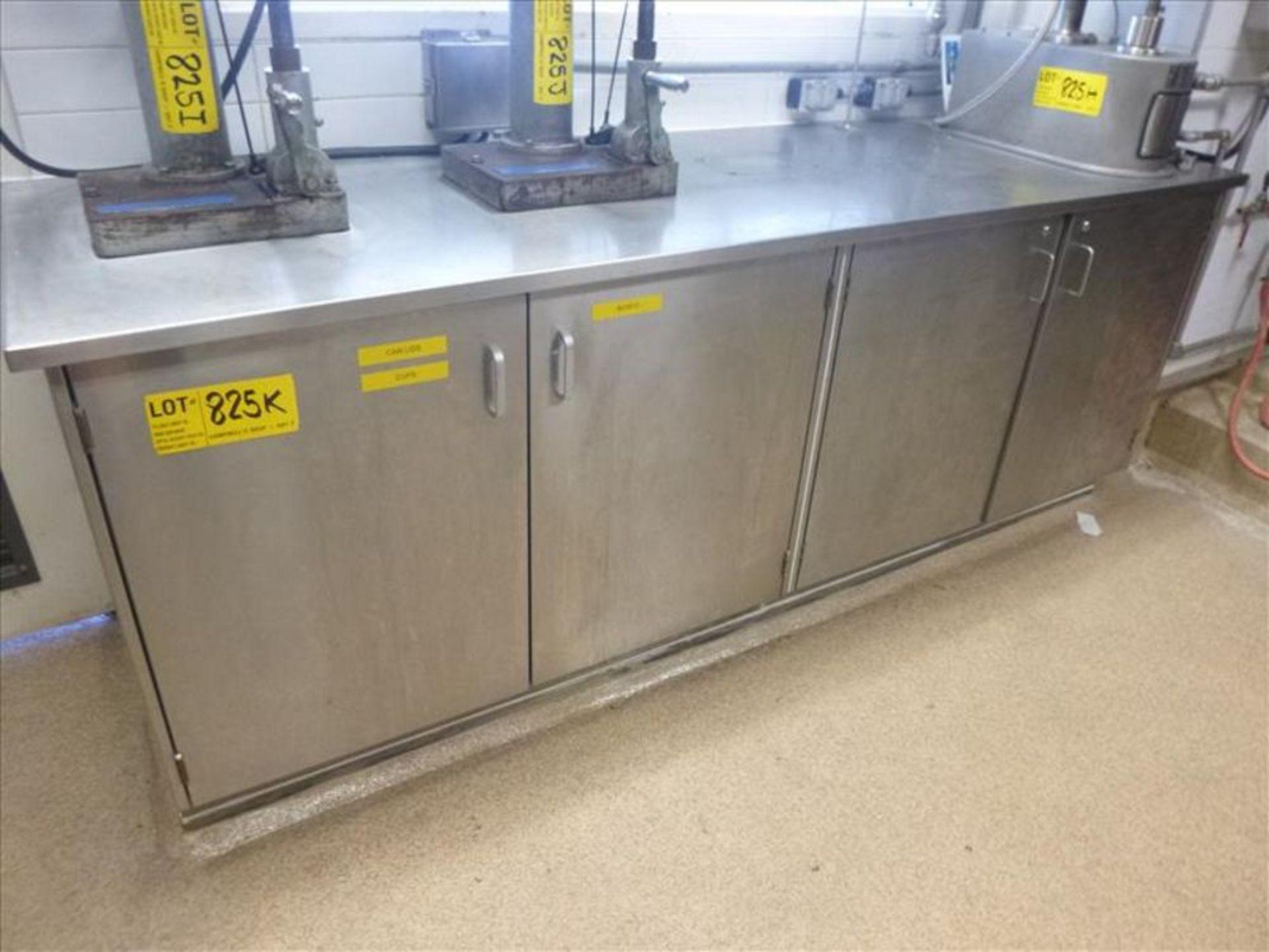 Lot 825K - s/s cabinet (2nd Floor, Test Kitchen)