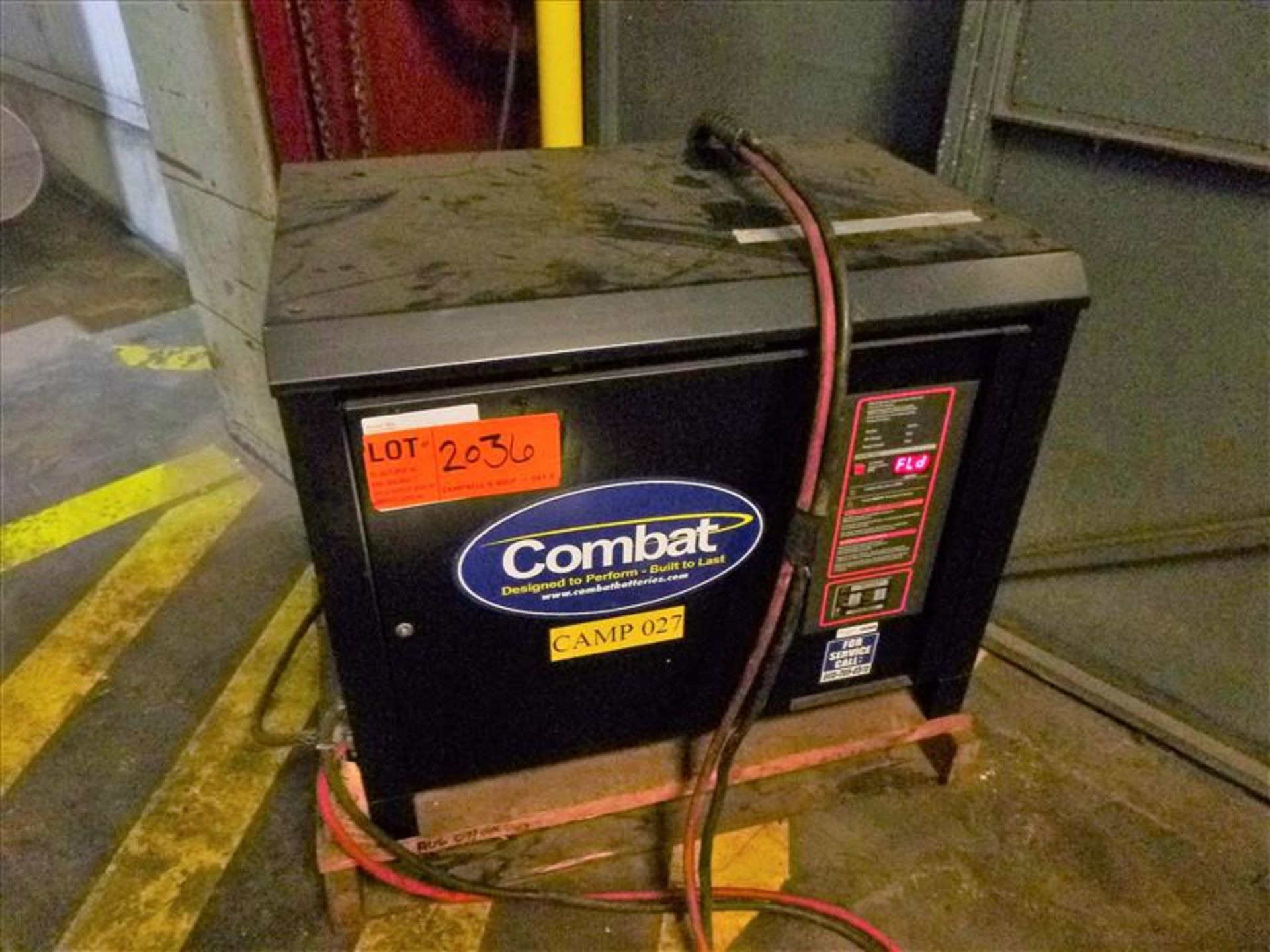 Lot 2036 - Combat battery charger, 48V [Material Handling]