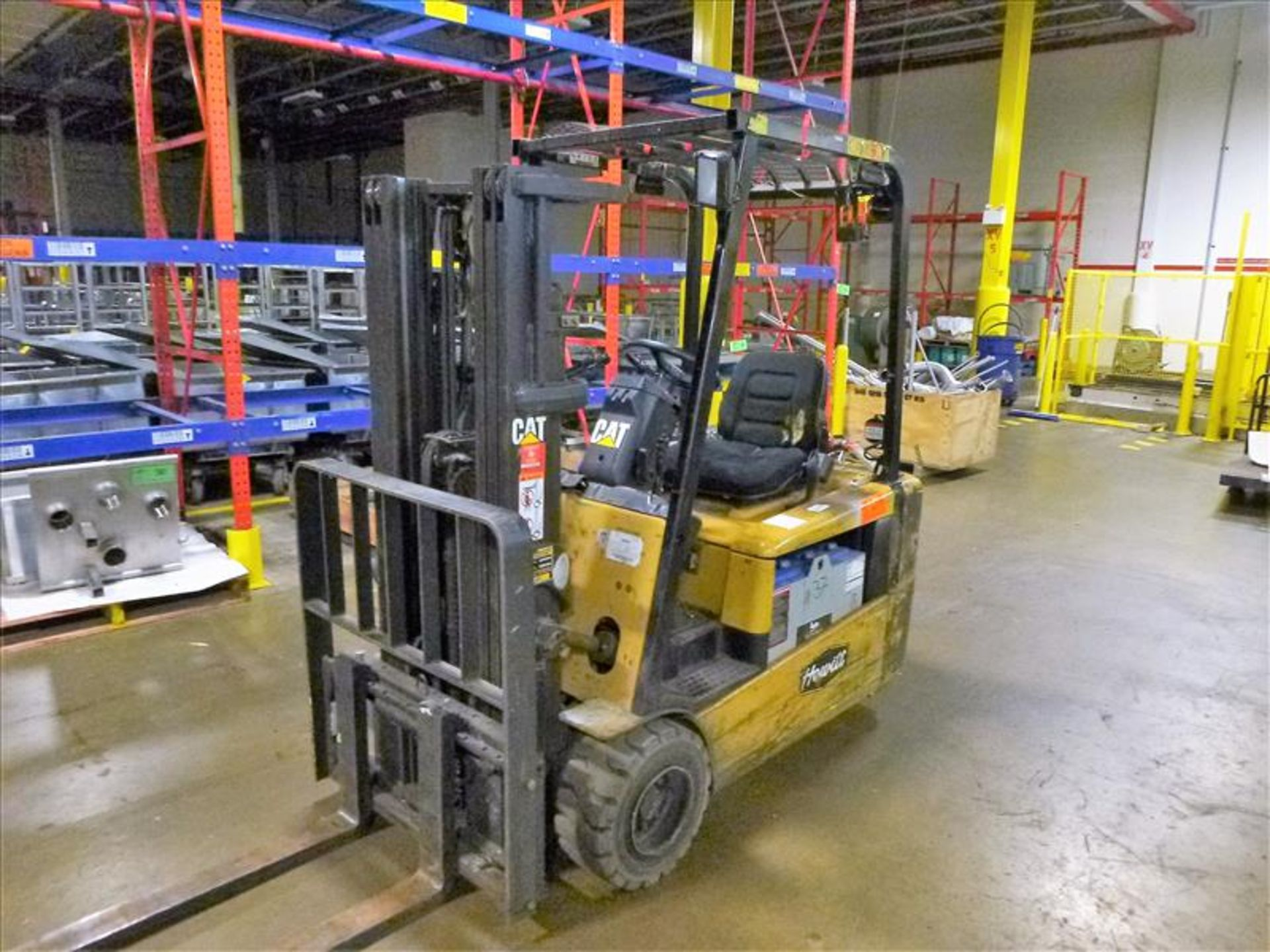 Caterpillar fork lift truck, mod. EC20KT, ser. no. ETB5A50553, 48V electric, 3750 lbs cap., 159