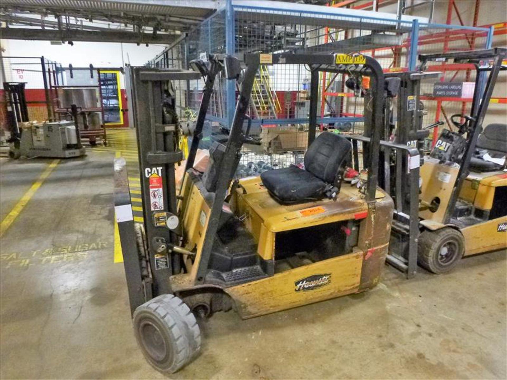 Lot 2020A - Caterpillar fork lift truck, mod. EC20KT, ser. no. ETB5A50548, 48V electric, 3750 lbs cap., 159