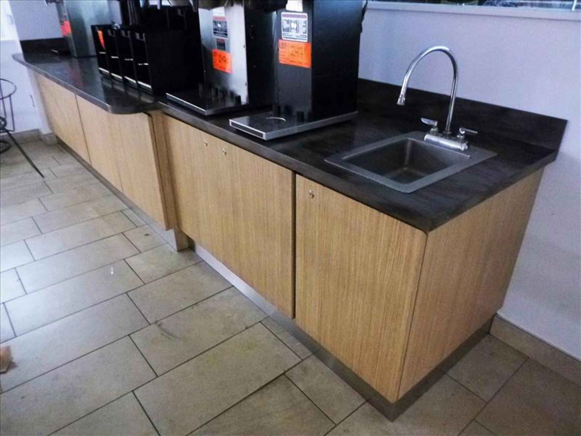 Lot 2489 - misc. built-in counters/cabinets [Cafeteria/Store, 1st Floor]