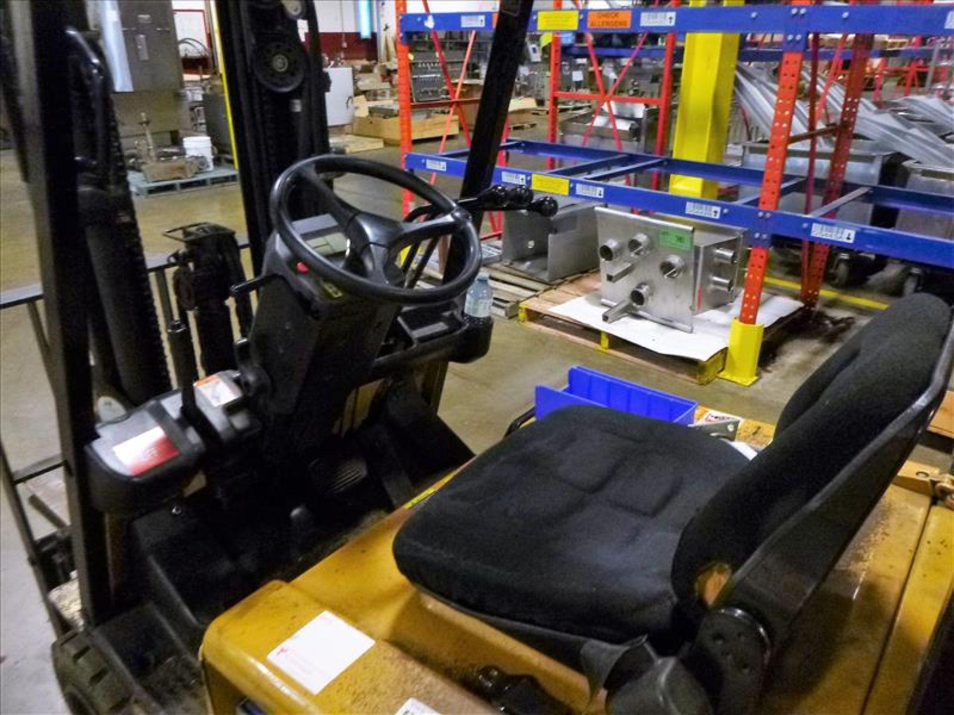 Caterpillar fork lift truck, mod. EC20KT, ser. no. ETB5A50553, 48V electric, 3750 lbs cap., 159 - Image 3 of 4
