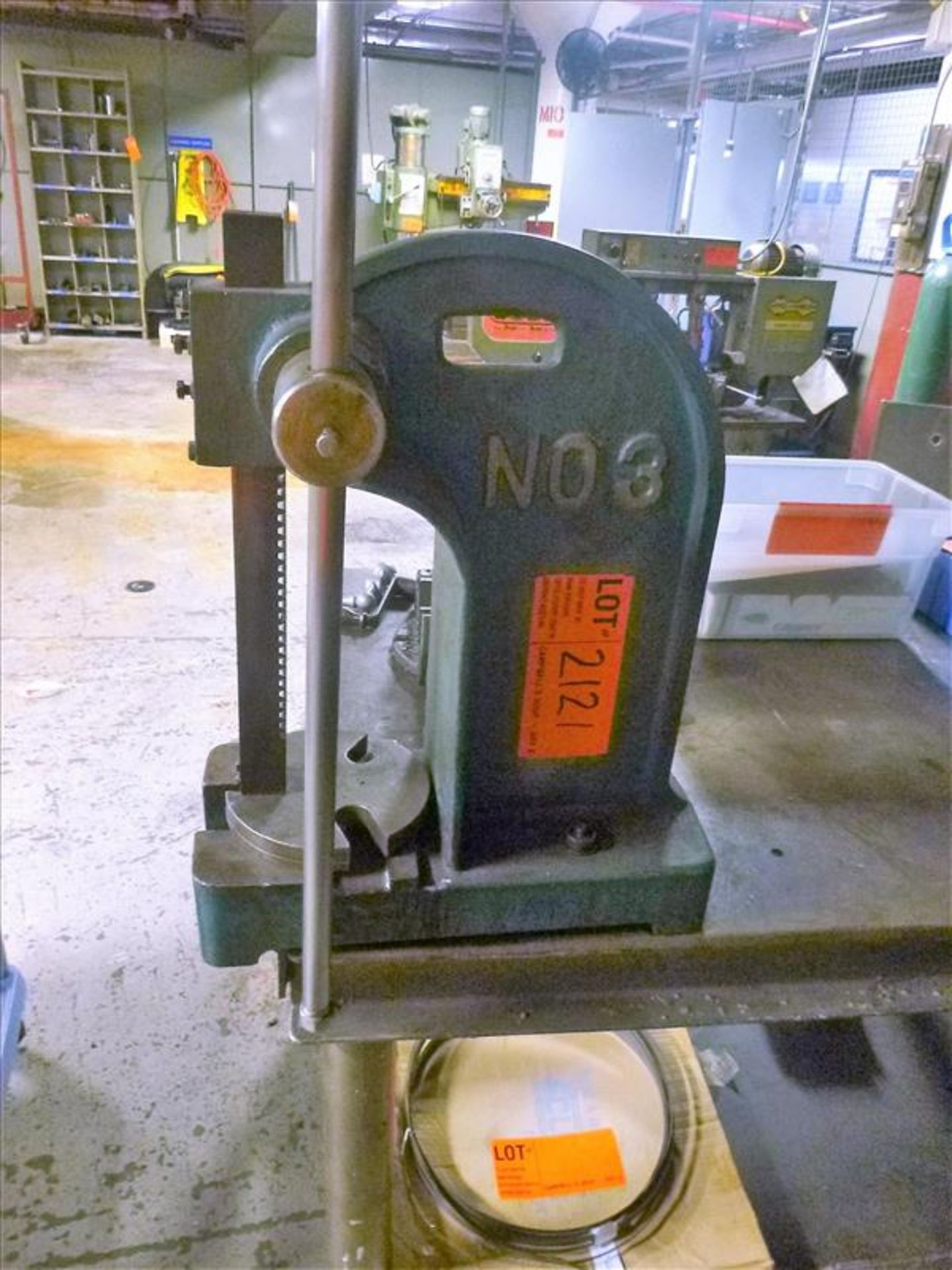 Lot 2121 - Jet arbor press, mod. AP-3 [Machine Shop, 1st Floor]