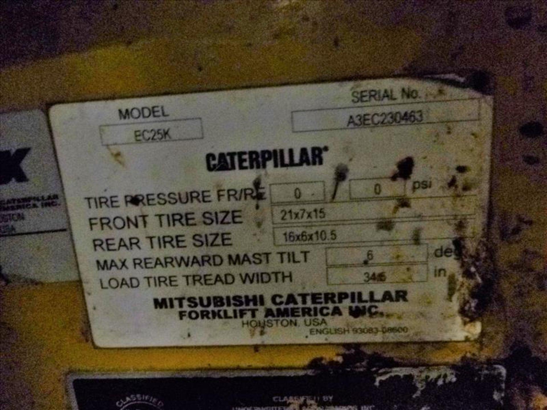 Caterpillar fork lift truck, mod. EC25K, ser. no. A3EC230463, 48V electric, 4450 lbs cap., 188 in. - Image 4 of 4