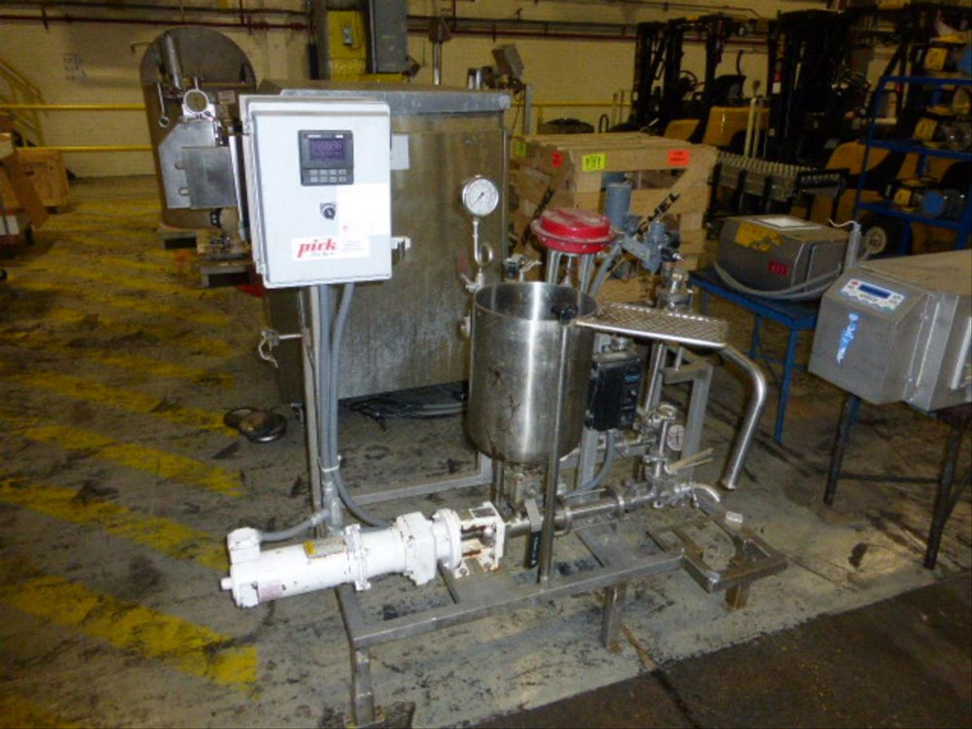 Lot 135 - Pick Heating Process Unit with Moyno EB2A SSE3 #7427602 with 0.5 HP Stainless Steel Tank, 11.5 in