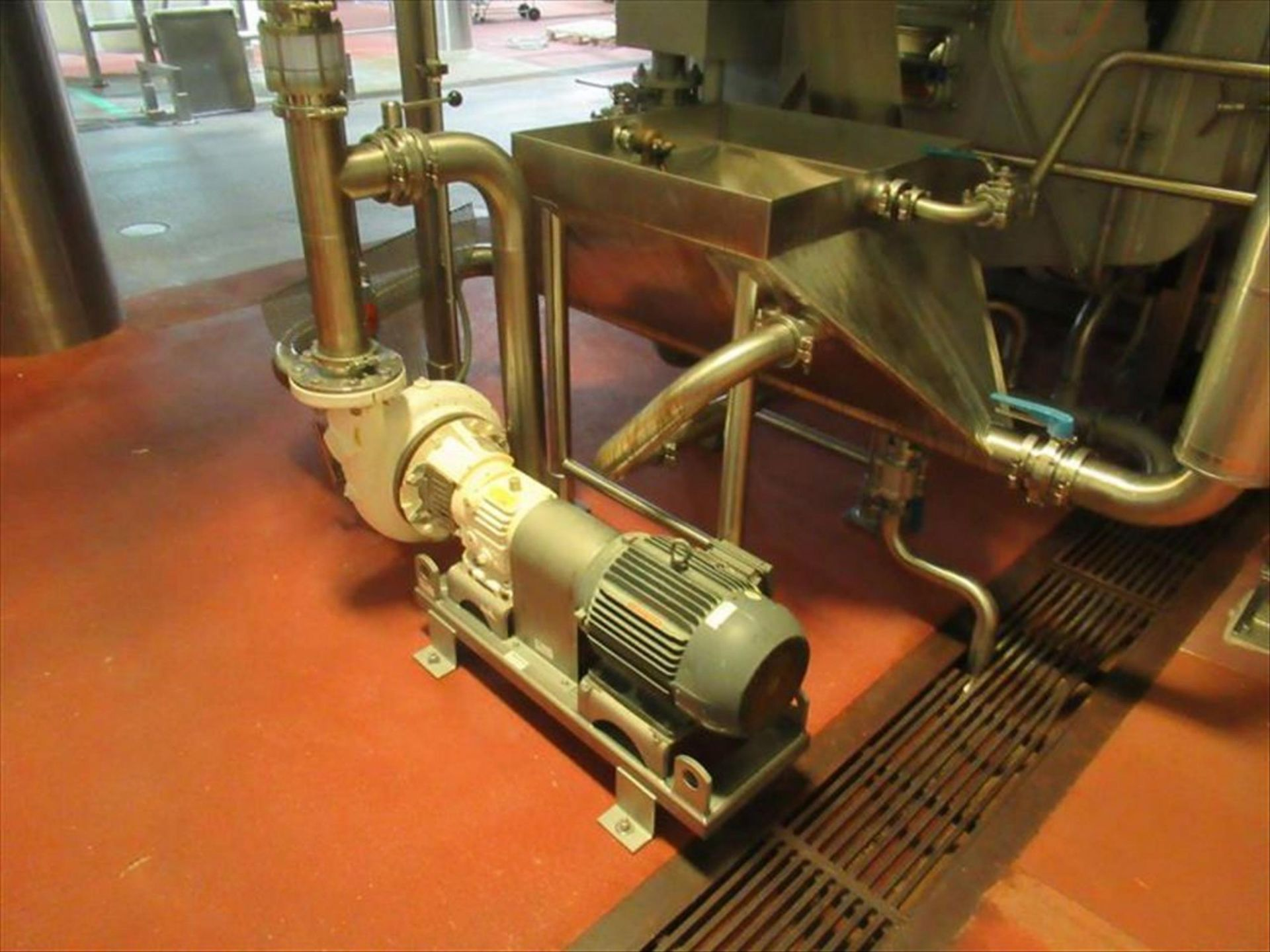 Cornell 4 in hydro-food pump mod. no. 4NMP-F5K 7.5hp with stainless vortex hopper [1st Flr Carrot