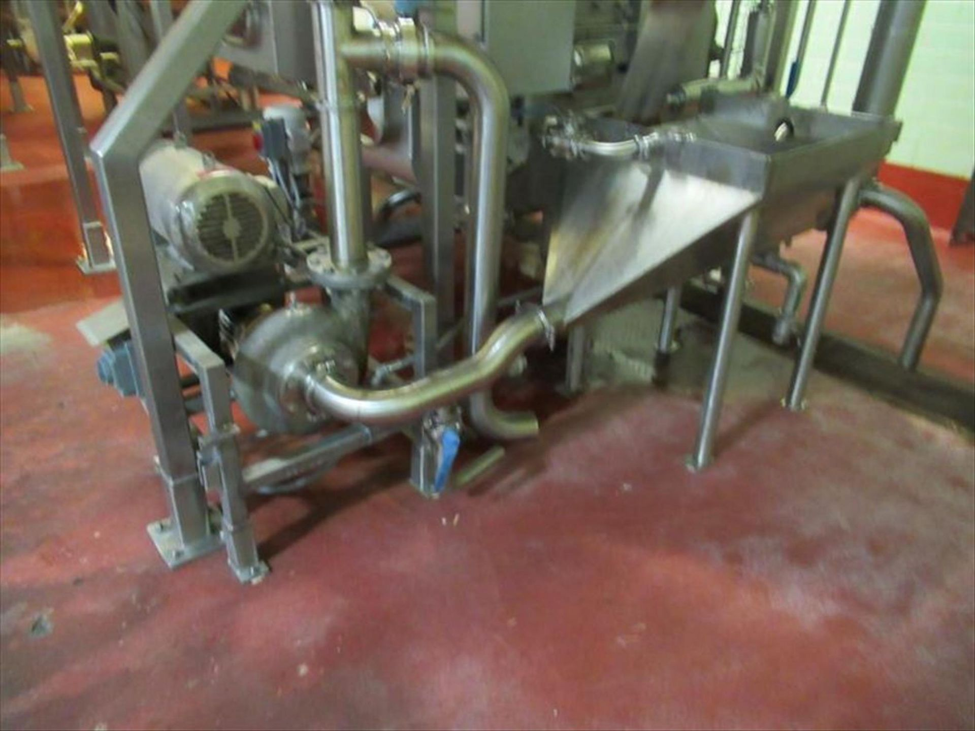 Lot 219 - Cornell 4 in hydro-food pump mod. no. 4NMP-F5K ser. no. 106607 7.5hp with stainless vortex hopper [