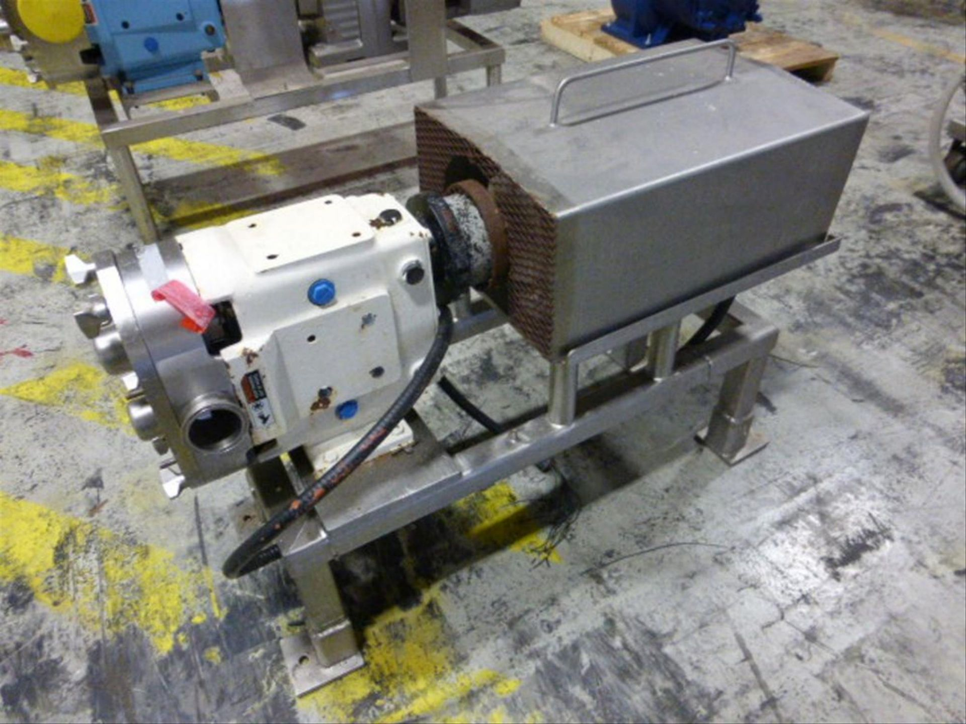 Lot 117 - SPX 2.5 in stainless positive displacement pump, model 060 UI, ser. no 415645-13, with 5 hp motor,