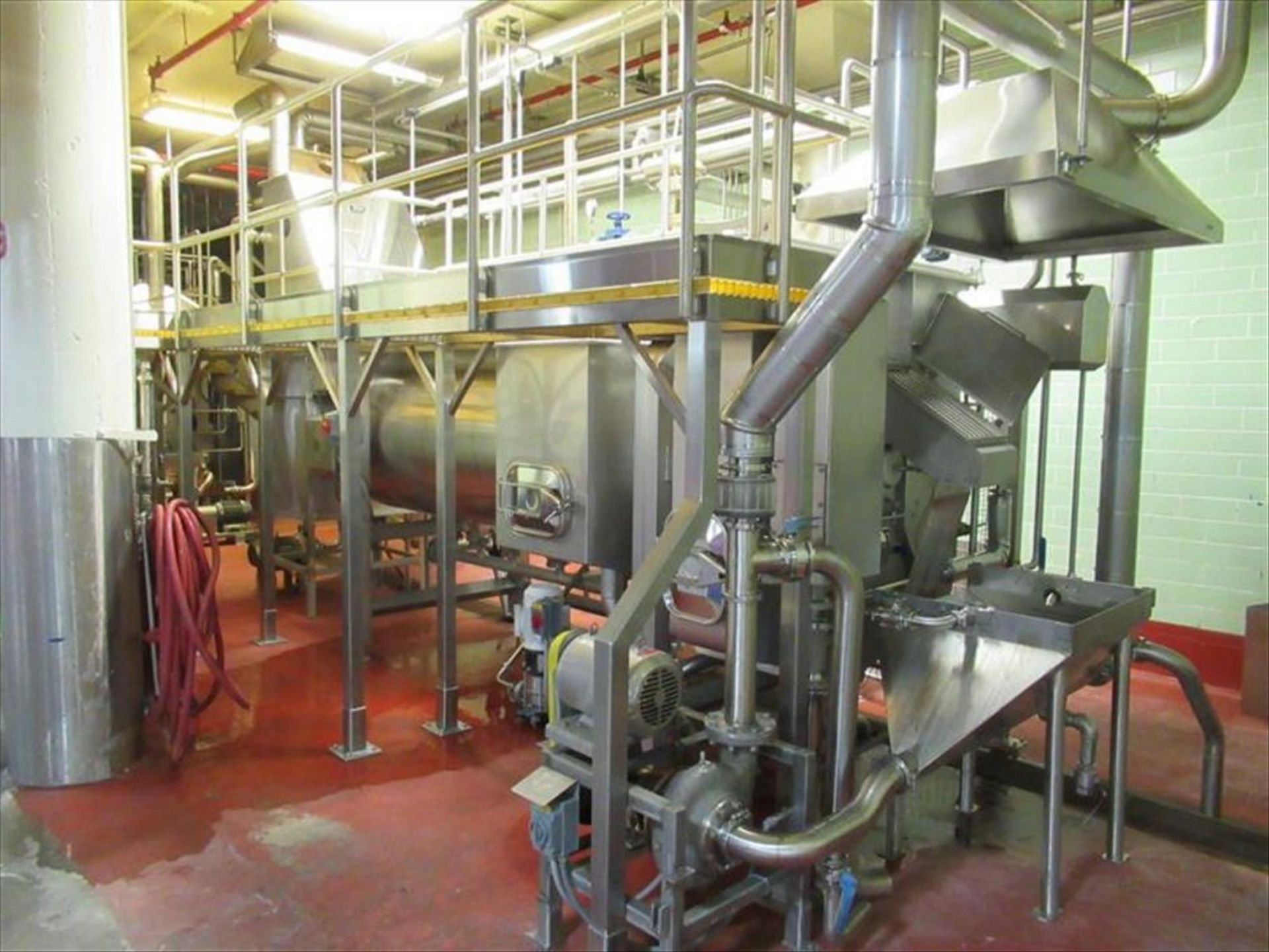 Lot 217 - Dutch Tech Source hot water blancher #3 mod. no. 01.000x3.500 approx 55 in dia x 153 in l shell,